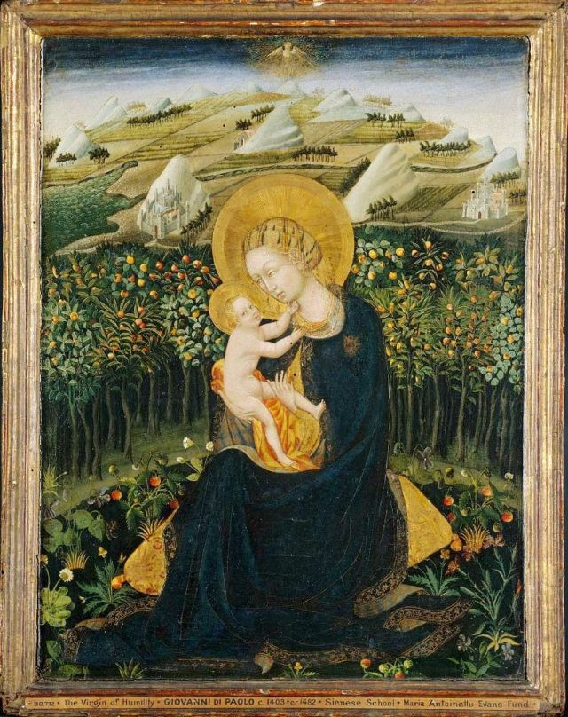 """Madonna of Humility"" by Giovanni di Paolo"